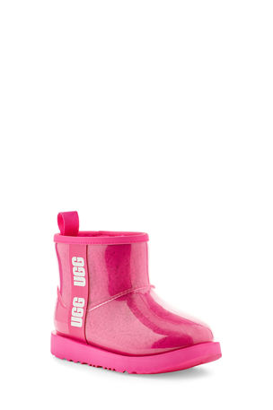 UGG Girl's Classic Mini Logo See-Through Waterproof Boots, Toddler/Kids