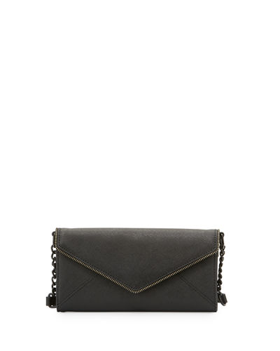 Cleo Saffiano Envelope Wallet-on-Chain