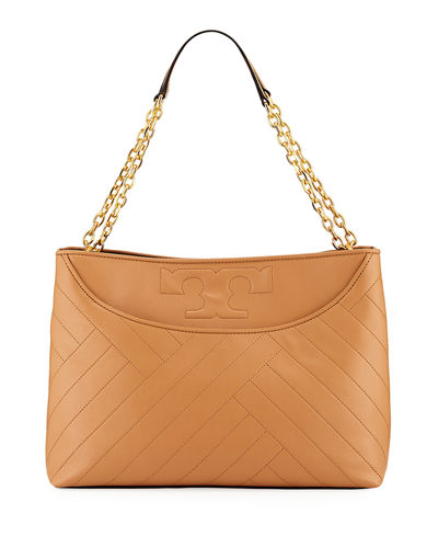 Alexa Quilted Leather Tote Bag