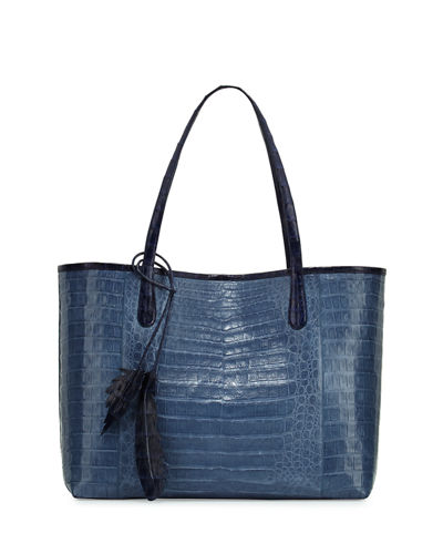 Erica Crocodile Shopper Tote Bag