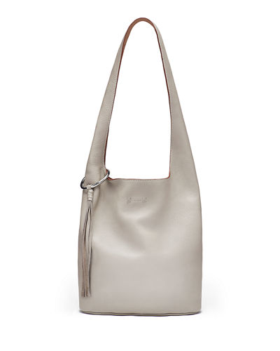 Finley Courier Leather Hobo Bag