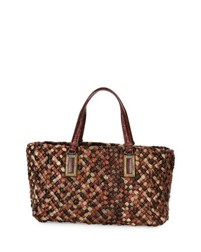 Lido Snakeskin & Lizard Tote Bag with Pouch