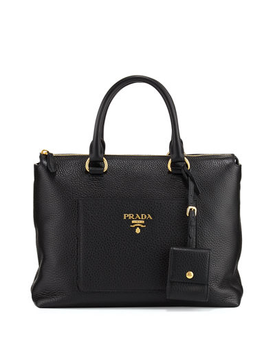 Vitello Daino Zip Tote Bag