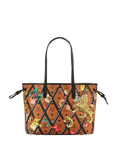 MCM Reversible Printed Shopper Tote Bag