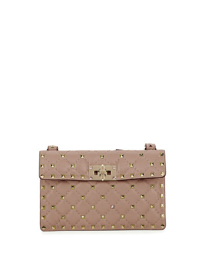 Rockstud Quilted Leather Crossbody Bag