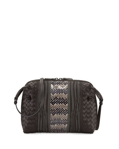 Bottega Veneta Intrecciato Small Embroidered Crossbody Bag