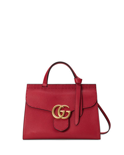 GG Marmont Small Top-Handle Satchel Bag