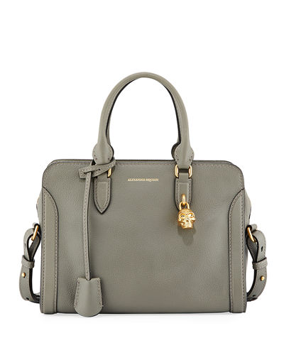 Padlock Small Leather Satchel Bag