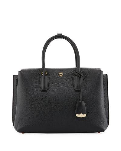MCM Milla Medium Leather Tote Bag