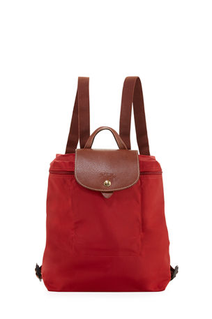 Longchamp Le Pliage Nylon Backpack, Bilberry