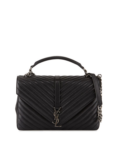 Saint Laurent Monogram Collège Large Chain Shoulder Bag