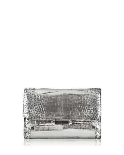 Sloane Crocodile Clutch Bag