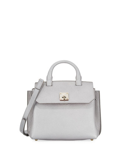 MCM Milla Leather Crossbody Tote Bag