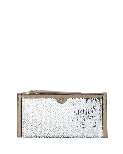Sequin Tassel Wristlet Clutch Bag