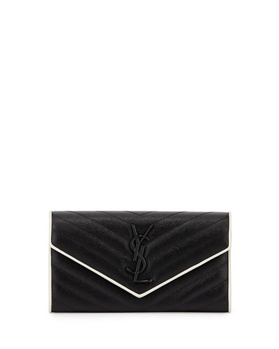 Monogram Leather Small Flap Continental Wallet