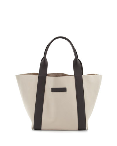 Reversible Small Nubuck Tote Bag