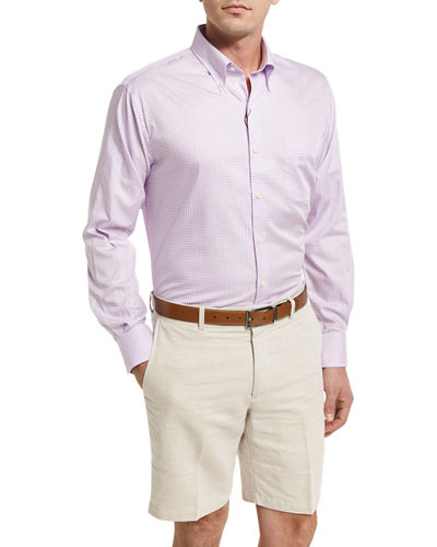 Crown Finish Gingham Sport Shirt