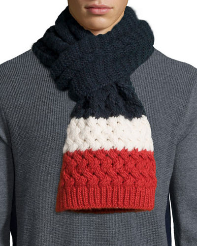 Cashmere Mixed-Knit Scarf