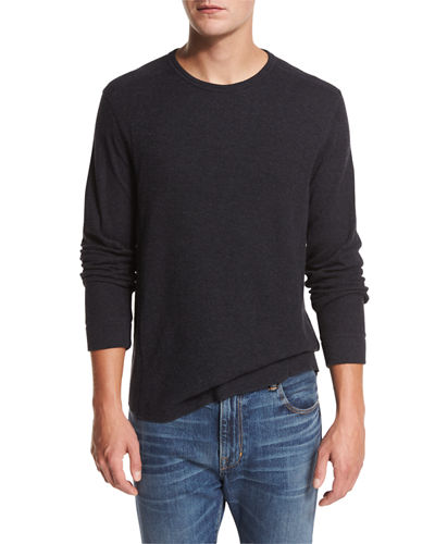 Raw-Edge Crewneck Sweatshirt