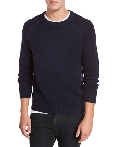 Raglan Wool-Cashmere Crewneck Sweater
