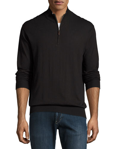 Peter Millar Crown Soft Quarter-Zip Pullover Sweater