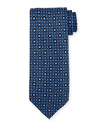 Interlocking Medallion Silk Tie