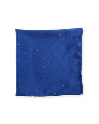 Crystal-Embellished Pocket Square
