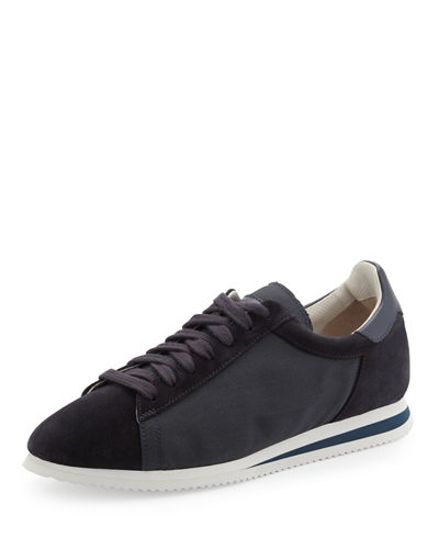 Men's Ares Suede & Canvas Running Sneaker