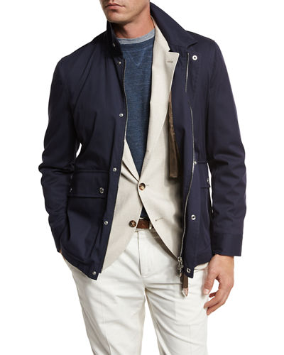 Cotton-Nylon Utility Jacket