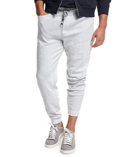 Drawstring Knit Spa Sweatpants