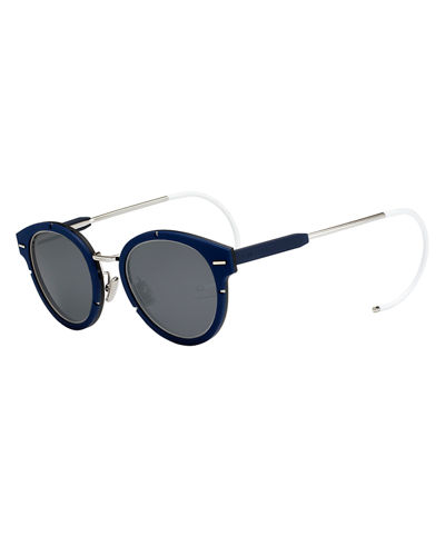 Rubber & Stainless Steel Sunglasses