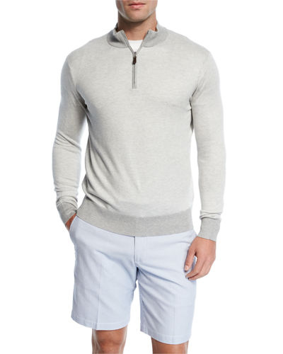 Crown Soft Quarter-Zip Birdseye Pullover Sweater