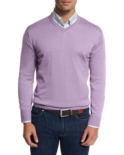 Collection Merino-Silk V-Neck Sweater