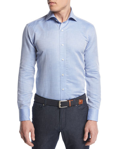 Silky-Touch Linen-Cotton Sport Shirt