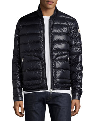 moncler black fur hooded jacket men's