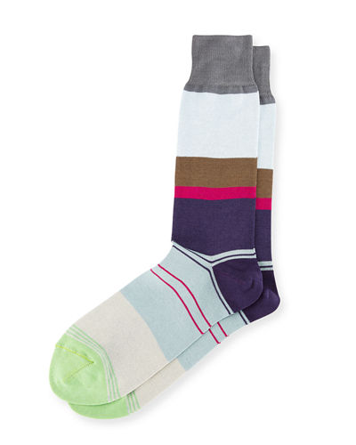 Gabriel Striped Colorblock Socks