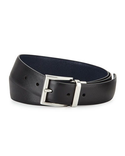 "1.3""W Reversible Saffiano Belt"