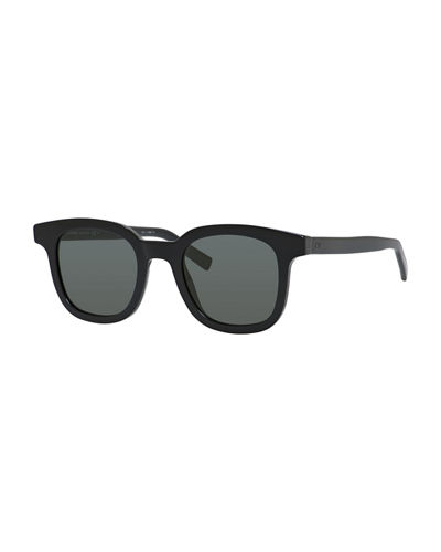 Black Tie Square Acetate Sunglasses