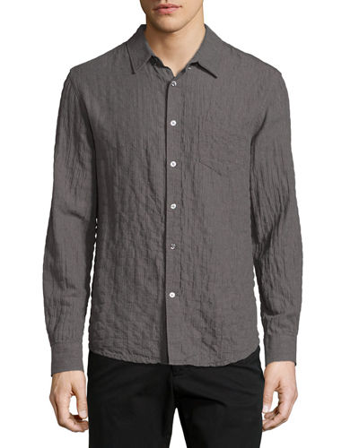 Crinkled Pocket Sport Shirt