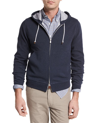 Brunello Cucinelli Cotton Spa Zip-Up Hoodie