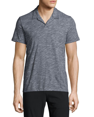 Willem Ocean Slub Polo Shirt