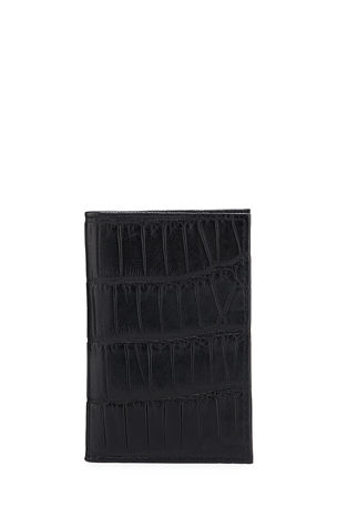 Neiman Marcus Slim Alligator Credit Card Case