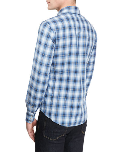 Western-Style Check Sport Shirt