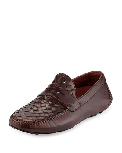 Woven Leather Penny Driver