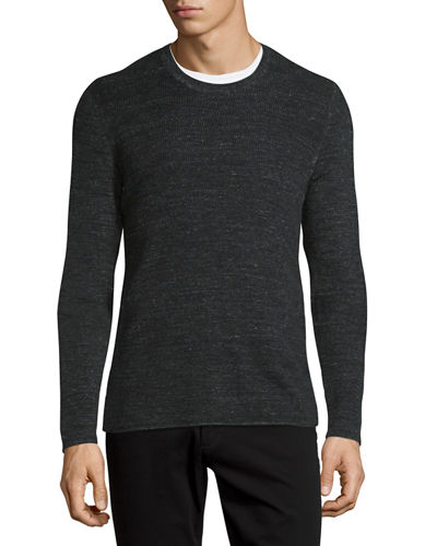 Vince thermal long sleeve crewneck t shirt Thermal t shirt long sleeve