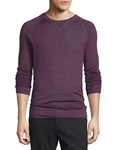 Raglan-Sleeve Crewneck Sweater