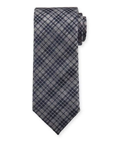 Plaid Silk Tie