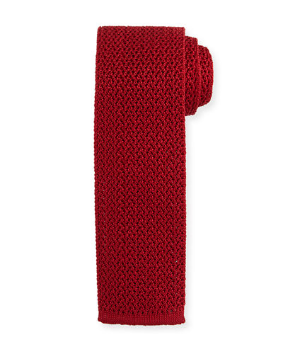 Silk Knit Flat-End Tie