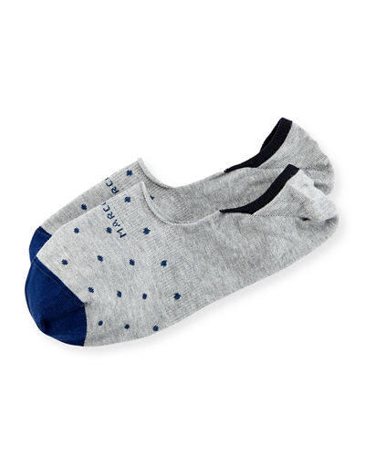 Marcoliani Invisible Touch Dot No-Show Socks