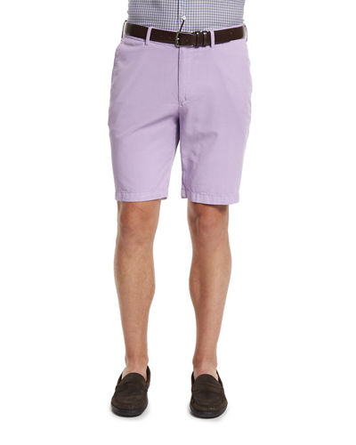 Summertime Flat-Front Twill Shorts